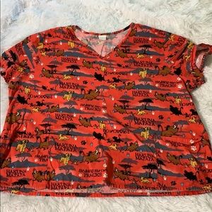 Disney Lion King Hakuna Matata scrub shirt 3XL